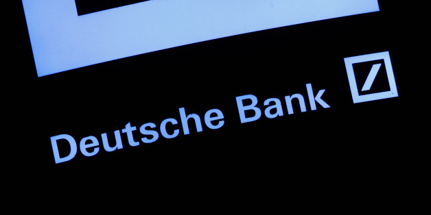 POLAND, Bydgoszcz, November 25 2016. A sign is seen at a branch of the Deutsche bank on Friday evening. Daily life in Poland during heavy mist that has been plaguing the country for several days. (Photo by Jaap Arriens/NurPhoto via Getty Images)