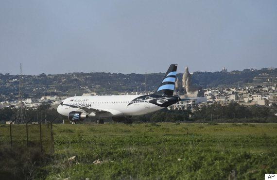 libyan plane hijacked malta
