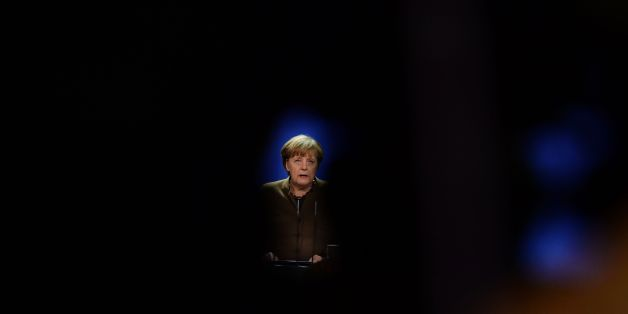 German Chancellor Angela Merkel addresses a press conference at the Chancellery in Berlin on December 23, 2016 after Tunisian Anis Amri, the suspected Christmas market attacker, was killed when he opened fire on Italian police in Milan. / AFP / Tobias SCHWARZ        (Photo credit should read TOBIAS SCHWARZ/AFP/Getty Images)