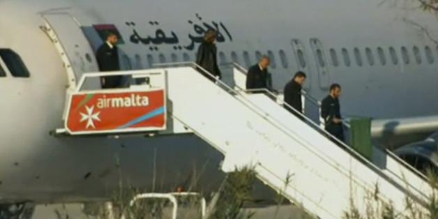 Der Afriqiyah Airways Airbus A320 landete unplanmäßig in Malta - eine Flugzeug-Entführung wird befürchtet