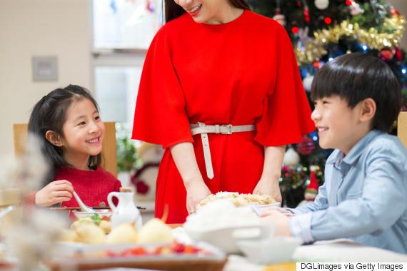 christmas dinner kid asia