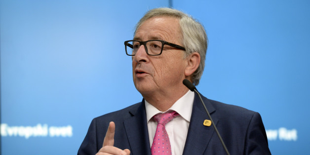 European Union Commission President Jean-Claude Juncker talks to the media  at the end of a European Union Summit held at the EU Council building in Brussels on December 15, 2016.  / AFP / THIERRY CHARLIER        (Photo credit should read THIERRY CHARLIER/AFP/Getty Images)