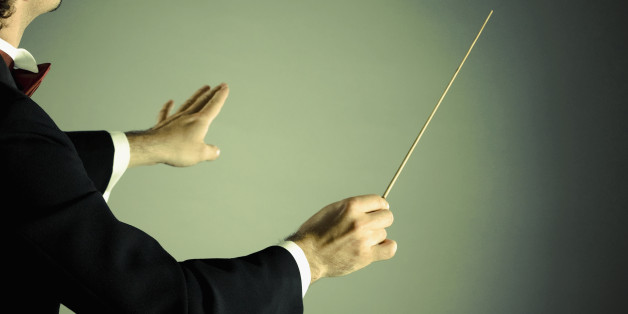 Conductor with baton