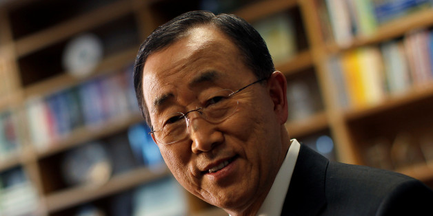 United Nations Secretary General Ban Ki-Moon is seen during an interview with Reuters at U.N. headquarters in New York, September 14, 2010.    REUTERS/Mike Segar/File Photo