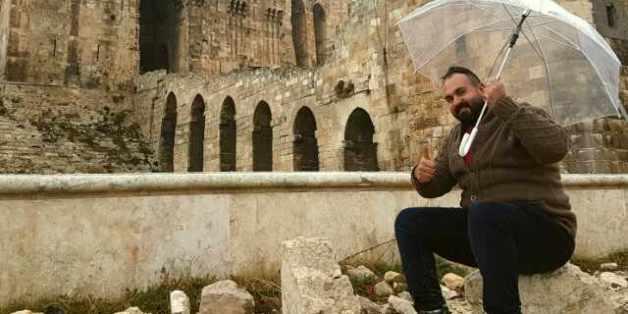 Karam Shaker vor der Zitadelle in Aleppo