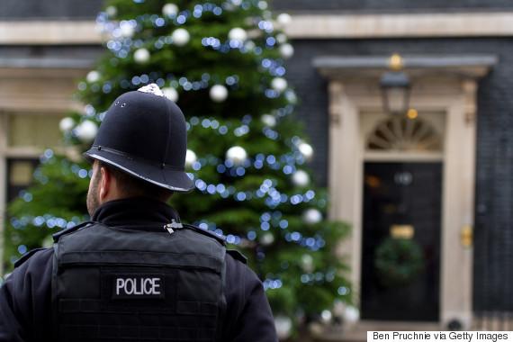 police christmas tree