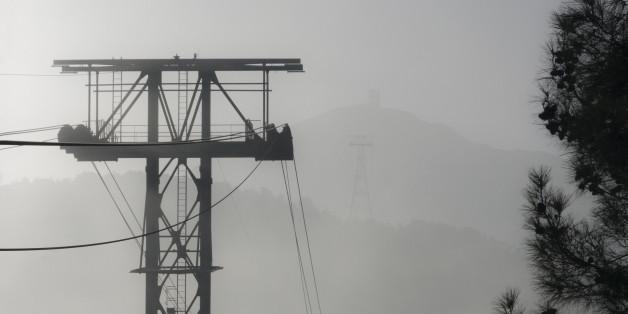 Olympos Teleferik funicular support in Turkey