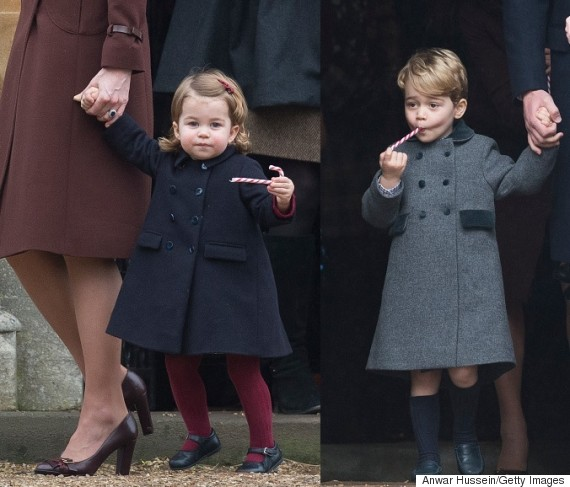 princess charlotte prince george candy cane
