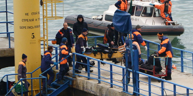 SOCHI, RUSSIA - DECEMBER 25, 2016: A search and rescue operation at the crash site of a Russian Defense Ministry plane. A Tupolev Tu-154 plane of the Russian Defense Ministry with 92 people on board crashed into the Black Sea near the city of Sochi on December 25, 2016. The plane was carrying members of the Alexandrov Ensemble, Russian servicemen and journalists to Russia's Hmeymim air base in Syria. Fragments of the plane were found about 1.5km from Sochi coastline. Artur Lebedev/TASS (Photo by Artur Lebedev\TASS via Getty Images)