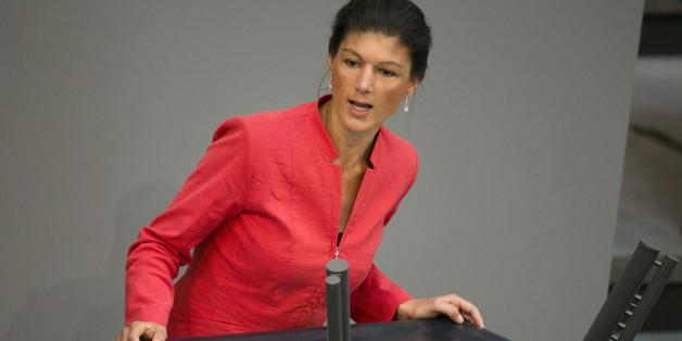 Sahra Wagenknecht im Bundestag