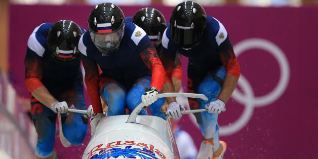 Der russische Viererbob gewann Gold in Sotschi