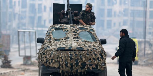 """Ein Kämpfer der """"Freien Syrischen Armee"""""""