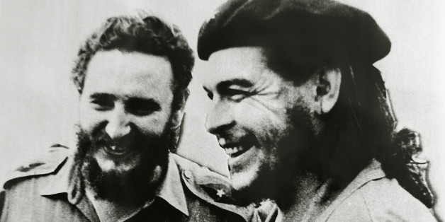 Fidel Castro (1926-), Cuban politician and revolutionary, left, and Ernesto Rafael Guevara de la Serna, known as Che Guevara (Rosario, 1928-La Higuera, 1967), Argentine revolutionary, photograph.