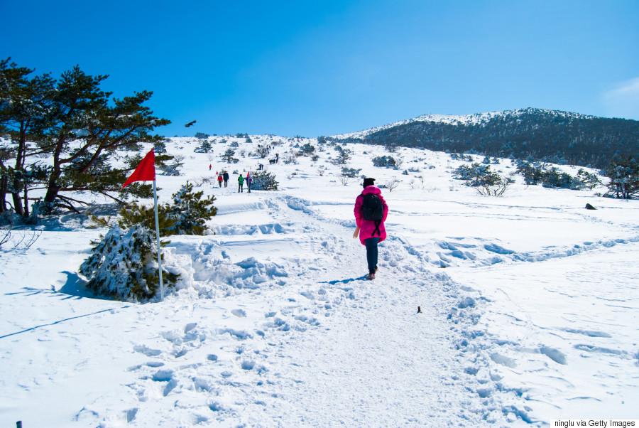 jeju korea snow