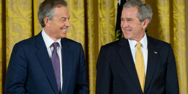 George W. Bush und Tony Blair im Januar 2009