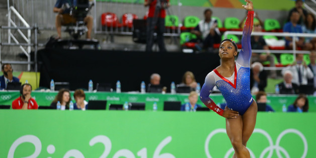 2016 Rio Olympics - Artistic Gymnastics - Final - Women's Floor Final - Rio Olympic Arena - Rio de Janeiro, Brazil - 16/08/2016. Simone Biles (USA) of USA competes.  REUTERS/Mike Blake  FOR EDITORIAL USE ONLY. NOT FOR SALE FOR MARKETING OR ADVERTISING CAMPAIGNS.