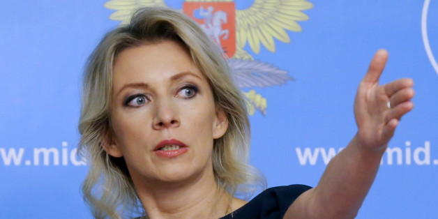 Spokeswoman of the Russian Foreign Ministry Maria Zakharova gestures as she attends a news briefing in Moscow, Russia, October 6, 2015. Russia strongly rebuffed U.S. criticism of its air strikes in Syria on Tuesday, reminding Washington how it had supported the United States in the aftermath of the 9/11 attacks on New York in 2001. REUTERS/Maxim Shemetov