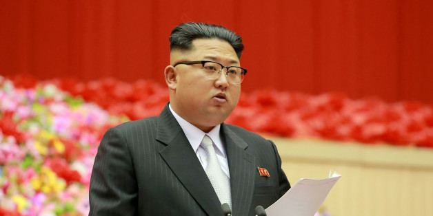 This photo taken on December 23, 2016 and released on December 24 by North Korea's official Korean Central News Agency (KCNA) shows North Korean leader Kim Jong-Un making an opening address at the First Conference of Chairpersons of the Primary Committees of the Workers' Party of Korea at the Pyongyang Indoor Stadium in Pyongyang. / AFP / KCNA / STR / South Korea OUT / REPUBLIC OF KOREA OUT   ---EDITORS NOTE--- RESTRICTED TO EDITORIAL USE - MANDATORY CREDIT 'AFP PHOTO/KCNA VIA KNS' - NO MARKETIN