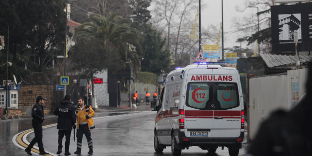 ISTANBUL, TURKEY - JANUARY 1:  A general view following a gun attack on New Year's Eve, on January 1, 2017 in Istanbul, Turkey. According to Turkey's interior minister Suleyman Soylu at least 39 people, including 15 foreigners, were killed and 40 wounded at Istanbul's famous Reina nightclub during a New Year Party.  (Photo by Stringer/Getty Images)