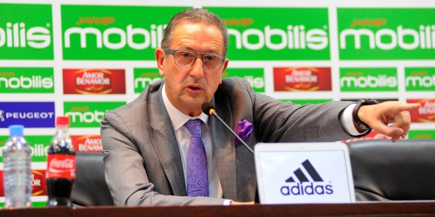 ALGIERS, ALGERIA - NOVEMBER 01: New Algeria soccer team's new head coach Georges Leekens gives a speech during a press conference at the Olympic Complex conference hall in Algiers, Algeria on November 01, 2016 .  (Photo by Bechir Ramzy/Anadolu Agency/Getty Images)