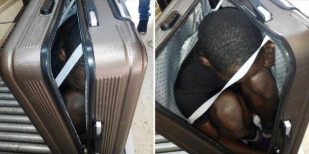 Une jeune Marocaine arrêtée après avoir caché un migrant dans sa valise