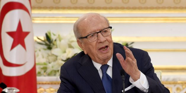 Tunisian President Beji Caid Essebsi speaks during the first cabinet meeting of the new government on August 31, 2016 at the Carthage Palace near Tunis. / AFP / FETHI BELAID        (Photo credit should read FETHI BELAID/AFP/Getty Images)