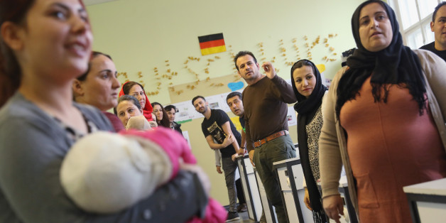 Flüchtlinge bei einer Integrationsklasse