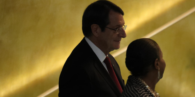 President Nicos Anastasiades of Cyprus arrives to address the 71st United Nations General Assembly in Manhattan, New York, U.S. September 22, 2016. REUTERS/Carlo Allegri