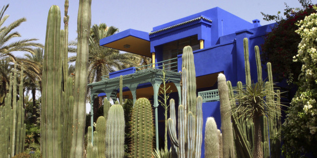 A view of the Majorelle botanical garden, where the remains of French fashion designer Yves Saint Laurent will rest, in Marrakesh June 7, 2008. Saint Laurent's body is to be cremated and the ashes spread in the garden of his villa in the Moroccan city. The oldest child of a rich French industrialist, Saint Laurent was born and grew up in Algeria, then a French colony, and showed an early talent for design, making clothes for his younger sisters' dolls. Saint Laurent died June 1, 2008 at the age