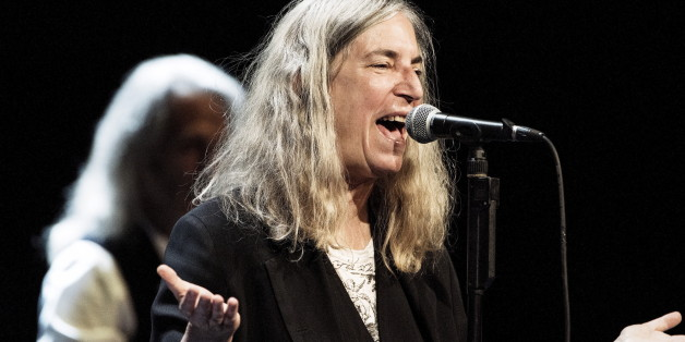 Singer Patti Smith performs at the Royal Danish Theatre in Copenhagen August 13, 2015.  REUTERS/Erik Refner/Scanpix DenmarkATTENTION EDITORS - THIS IMAGE WAS PROVIDED BY A THIRD PARTY. THIS PICTURE IS DISTRIBUTED EXACTLY AS RECEIVED BY REUTERS, AS A SERVICE TO CLIENTS. FOR EDITORIAL USE ONLY. NOT FOR SALE FOR MARKETING OR ADVERTISING CAMPAIGNS. DENMARK OUT. NO COMMERCIAL OR EDITORIAL SALES IN DENMARK. NO COMMERCIAL SALES.