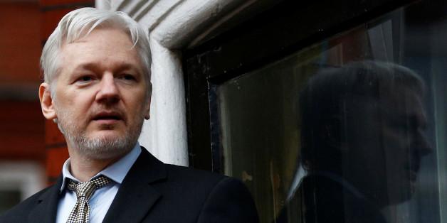 Julian Assange in der equadorianischen Botschaft in London