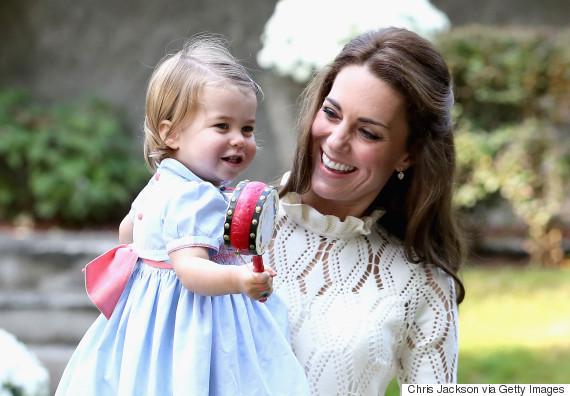 princess charlotte - Royal Family Christmas Card
