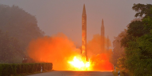 Ballistic rocket is seen launching during a drill by the Hwasong artillery units of the KPA Strategic Force in this undated picture provided by KCNA in Pyongyang on July 21, 2016. KCNA/via ReutersATTENTION EDITORS - THIS IMAGE WAS PROVIDED BY A THIRD PARTY. EDITORIAL USE ONLY. REUTERS IS UNABLE TO INDEPENDENTLY VERIFY THIS IMAGE. SOUTH KOREA OUT. NO THIRD PARTY SALES. NOT FOR USE BY REUTERS THIRD PARTY DISTRIBUTORS.Ê     TPX IMAGES OF THE DAY