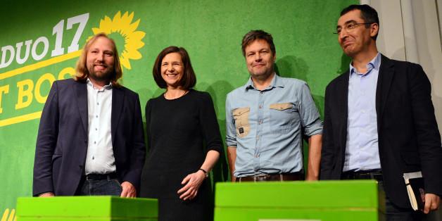 Anton Hofreiter, Katrin Göring-Eckardt, Robert Habeck und Cem Özdemir