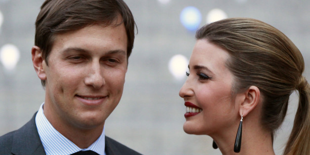Ivanka Trump arrives with husband, Jared Kushner, at the Vanity Fair party to begin the 2012 Tribeca Film Festival in New York, April 17, 2012.  REUTERS/Lucas Jackson (UNITED STATES - Tags: ENTERTAINMENT)