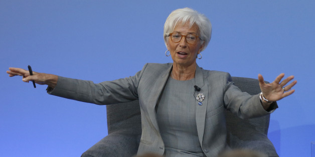 Christine Lagarde, Managing Director of the International Monetary Fund, speaks during a panel discussion at the Anti-Corruption Summit in London, Thursday, May 12, 2016. David Cameron has gathered leaders, civil-society groups and representatives of banks and financial institutions at Thursday's conference with the goal of producing a strong global declaration against financial wrongdoing. REUTERS/Frank Augstein/Pool