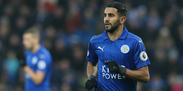 LEICESTER, ENGLAND - DECEMBER 31: Leicester City's Riyad Mahrez during the Premier League match between Leicester City and West Ham United at The King Power Stadium on December 31, 2016 in Leicester, England. (Photo by Stephen White - CameraSport via Getty Images)