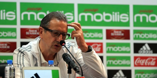 National coach Georges Leekens hosted a press conference in the conference room of the Olympic Complex Mohamed Boudiaf in Algiers, Algiers on 2 January 2017. (Photo by Billal Bensalem/NurPhoto via Getty Images)