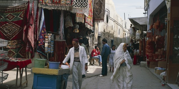 TUNISIA - MARCH 5: Souks in the medina of Sousse (UNESCO World Heritage List, 1988), Sousse governorate (Wilayat Susah), Tunisia. (Photo by DeAgostini/Getty Images)