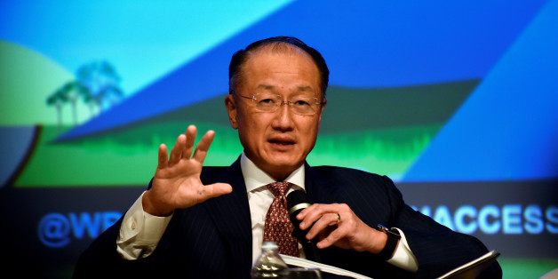 World Bank President Jim Yong Kim sits on a panel at the annual meetings of the IMF and World Bank Group in Washington October 7, 2016. REUTERS/James Lawler Duggan