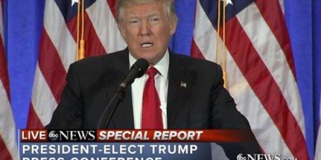 Le premier face à face très attendu de Donald Trump avec la presse