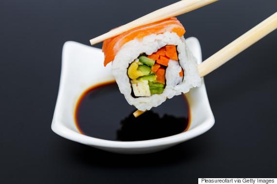 sushi roll chopstick