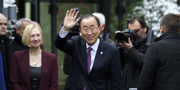 U.N. Secretary-General Ban Ki-moon attends the Cyprus reunification talks in the Swiss mountain resort of Mont Pelerin, Switzerland November 7, 2016. REUTERS/Fabrice Coffrini/Pool