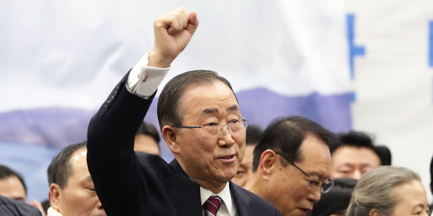 INCHEON, SOUTH KOREA - JANUARY 12:  Former U.N. Secretary General Ban Ki-moon arrives at Incheon International Airport on January 12, 2017 in Incheon, South Korea. Former United Nations Secretary General Ban Ki-moon, succeeded by former Portuguese Prime Minister Antonio Guterres on 1 January 2017, returned home amid the increased attention. The U.S. prosecutors charged Ban's brother and nephew with conspiracy to bribe a government official on January 10, 2017 while Ban is one of the possible con