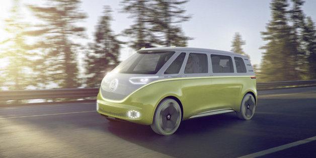 Der I.D. Buzz ist der Nachfolger des berühmten VW-Bulli.