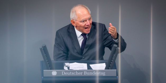 German Finance Minister Wolfgang Schaeuble attends a debate on the budget during a plenary session at the lower house of Parliament (Bundestag) in Berlin on November 22, 2016.