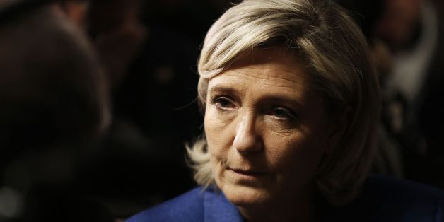 Marine Le Pen, leader of the French far-right Front National (FN) party candidate in France's 2017 presidential election, speaks to the press during her visit to Igoville, northwestern France on January 6, 2017. / AFP / CHARLY TRIBALLEAU        (Photo credit should read CHARLY TRIBALLEAU/AFP/Getty Images)