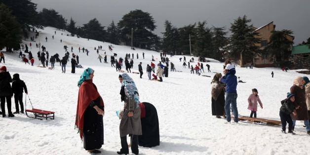 Snow on the Chréa National Park in Blida, Algeria, on March 14, 2016. The national park is located 50km from the capital Algiers. It can be reached on road from the airport in Algiers. There are airport shuttles and car hire for Chrea Algeria tours (Photo by Billal Bensalem/NurPhoto) (Photo by Billal Bensalem/NurPhoto/NurPhoto via Getty Images)