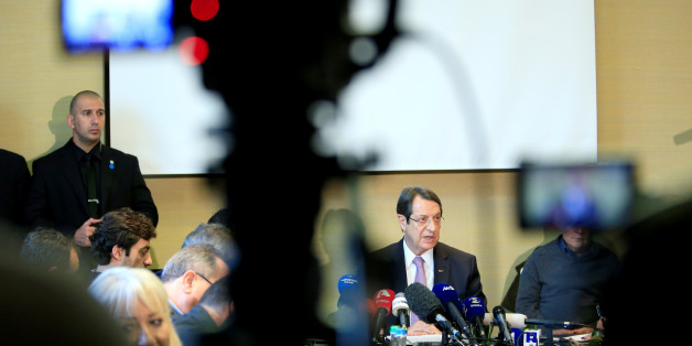 Cypriot President Nicos Anastasiades speaks during a news conference in Geneva, Switzerland January 13, 2017. REUTERS/Pierre Albouy