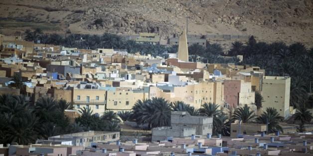 ALGERIA - MARCH 5: View of Bou Noura, M'Zab Valley (UNESCO World Heritage List, 1982), Algeria. (Photo by DeAgostini/Getty Images)